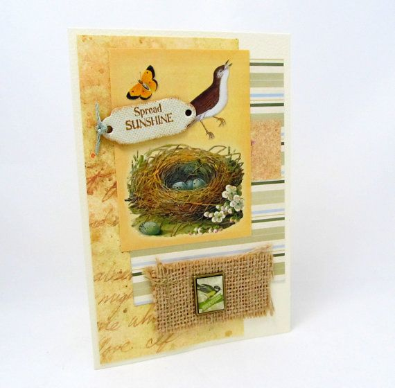 Spread Sunshine  Nature Themed  Rustic Chic  by PrettyByrdDesigns