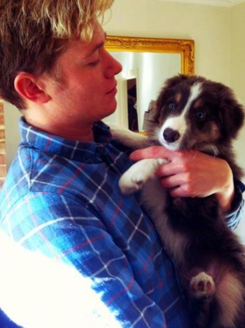 Ed Speleers and a puppy. I think my heart kind of exploded