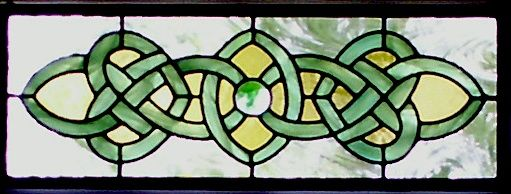 Celtic beautiful stained glass windows Photo   Celtic Stained Glass Window   Transom