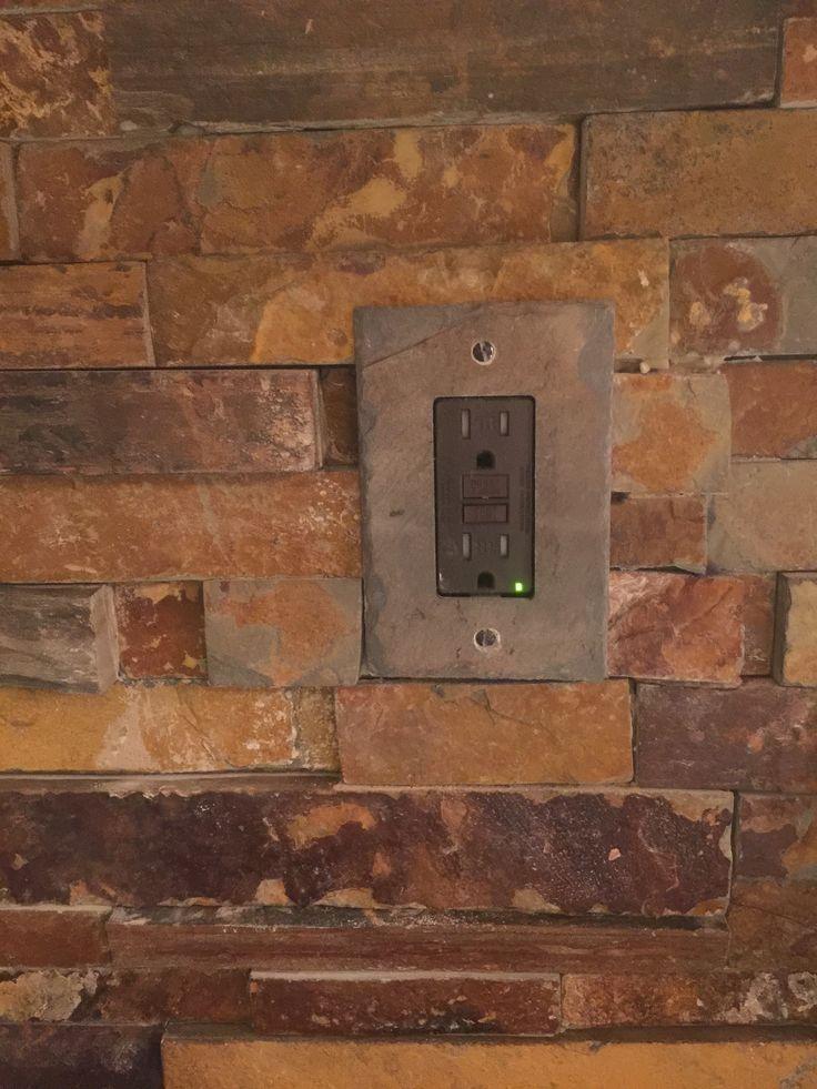california gold rush slate ledger stone backsplash slate switch plate from switchhitscom - Slate Cafe Ideas