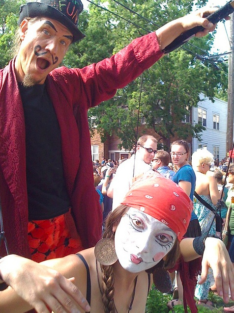 Human Puppeteer and Marionette at the 2010 Uptown #pizzaluce block party. #mylocalmn