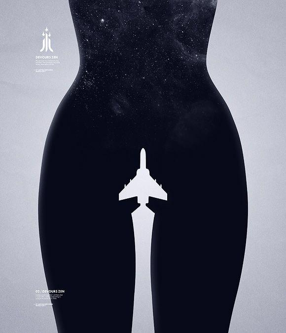 Devours Zen: Graphic Design, Negative Space, Illusion, Zen Design