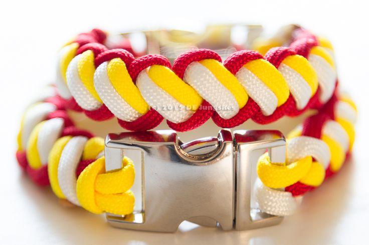Armband in Oeteldonkse 3 kleur met metalen verchroomde sluiting.