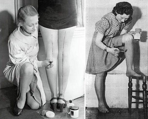 wwii stocking shortage