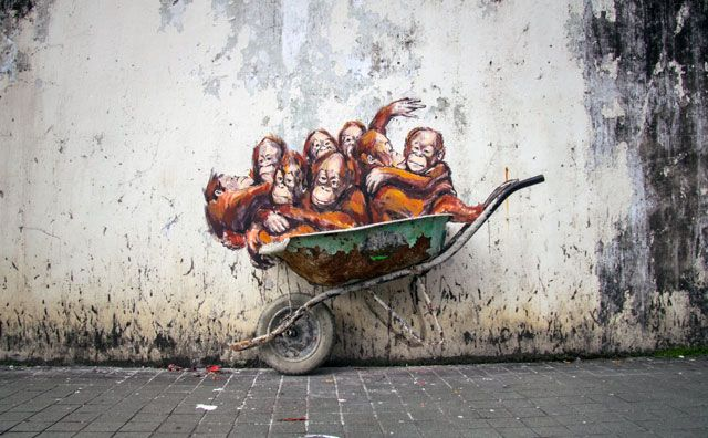 Fascinating Street Art by Ernest Zacharevic | http://www.yatzer.com/ernest-zacharevic