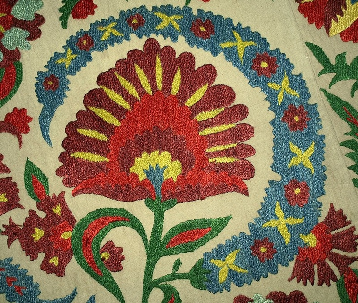 Detail from an uzbek wallhanging found on ebay