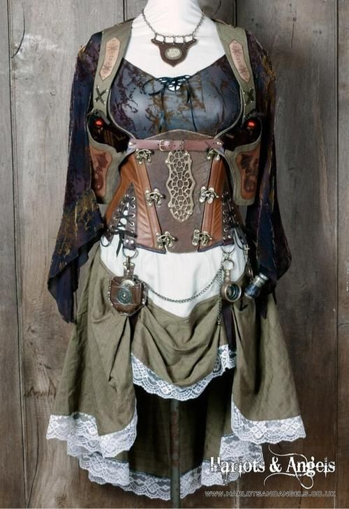Linen and Leather Steampunk double shoulder holster