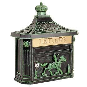 The Victorian Mailboxes are quite unique! Locking mailbox available in 4 colors - a touch of old world style. $100.00