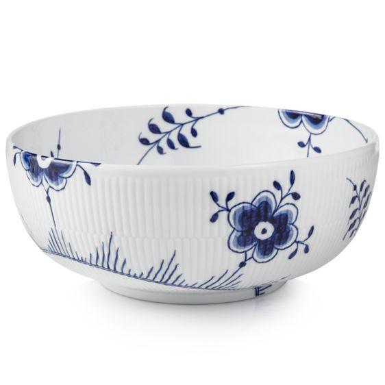 Bowl - Blue Fluted Mega - porcelain dinner service from Royal Copenhagen, Denmark. Production start: 2000