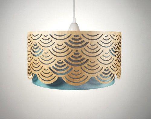 Handmade Laser Cut Wooden Lampshades Photo - wood veneer