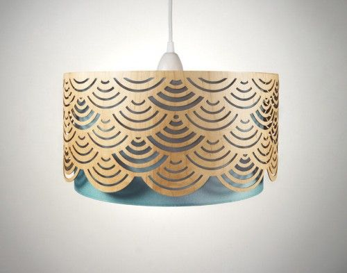 Handmade Laser Cut Wooden Lampshades Photo - wood veneer