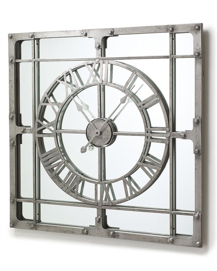 mirrordeco com mirror wall clock extra large h 77cm on mirror wall id=99861