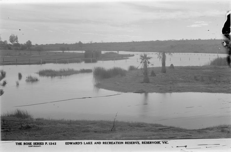 Edwards Park Lake in Reservoir, 1920