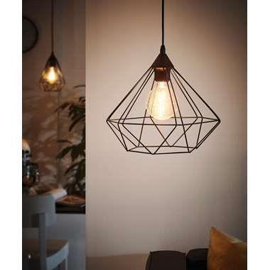 EGLO hanglamp Tarbes 1 - zwart | Leen Bakker