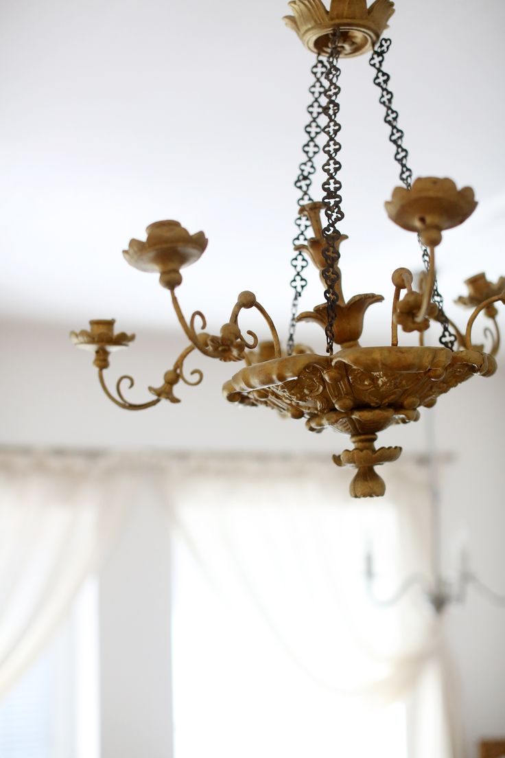 Old Chandelier with gold