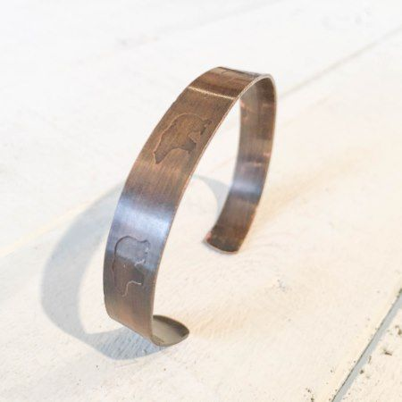 Adjustable Copper Bear Cuff Fashion Bracelet - tap, personalize, buy right now!