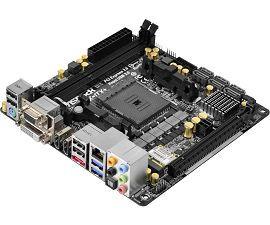ASRock > FM2A88X-ITX+   EUR 105,83 -Soporta memoria DDR3 2400+(OC)/2133/1866/1600/1333/1066 non-ECC, un-buffered - Gráficos AMD Radeon™ HD R7/R5 series Integrada en de la APU A-series -PCI Express 3.0