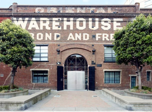 The historic Oriental Warehouse in San Francisco was completely renovated and reconfigured to house luxury lofts. The project was undertaken by Edmonds + Lee Architects. The former warehouse retains its original painted signage on the facade.