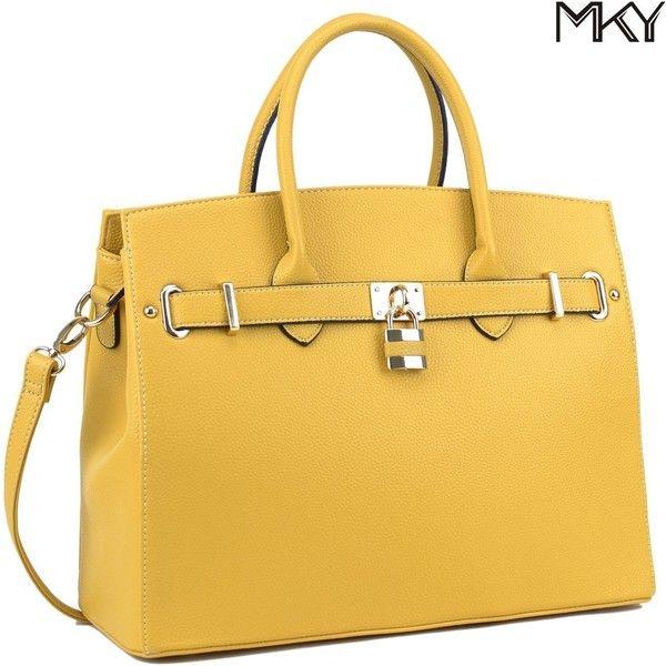 Women Large Handbag Designer Purse Leather Satchel w/ Removable... (€28) ❤ liked on Polyvore featuring bags, handbags, leather hand bags, satchel purses, genuine leather handbags, satchel handbags and man satchel bag