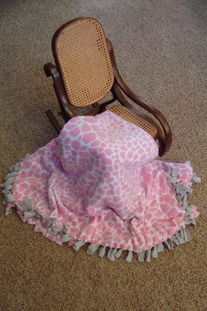 Fleece tie blanket. To make for baby shower, housewarming, etc