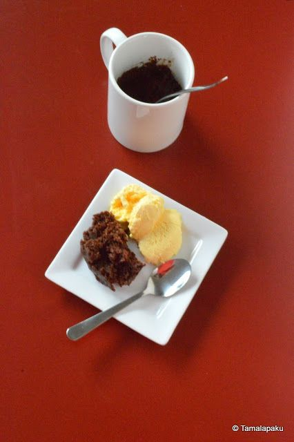 2 Minute Eggless Nutella Mug Brownie ~ Tamalapaku