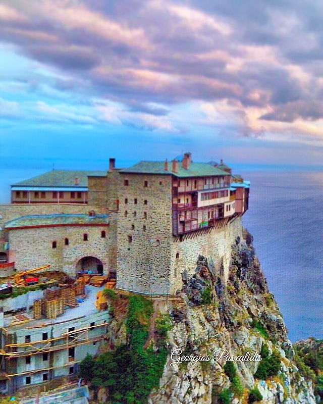 MOUNTAIN ATHOS---SIMONOPETRA MONASTERY----CHALKIDIKI.....GREECE..... _____________________________ (Characterized by Calatrava as one of the wonders  OF HUMANITY)_______ ______________________________________ ΚΑΛΗΜΕΡΑ ΣΑΣ__ GOOD MORNING_______________