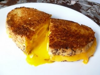 Grilled cheese with a poached egg inside! mmmm