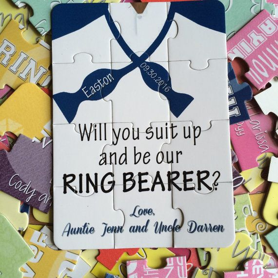 Ask your favorite little girl to be your flower girl! This is in a fun, unique way to ask with this personalized 12pcs puzzle. We offer three