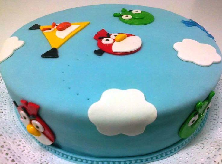 "Torta para Niños ""Angry Birds"" de Pastelería dCondorelli  - www.dcondorelli.cl - Santiago, Chile"