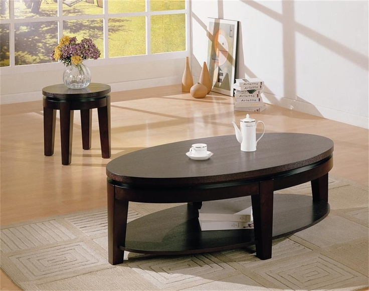 Beautiful Coaster Furniture   Bosworth Contemporary Oval Cocktail Table With Shelf    700598