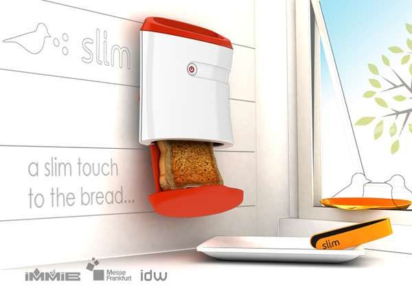 Wall-Mounted Slice Shots - The Slim Toaster is a Space Age Solution to Reducing Countertop Clutter