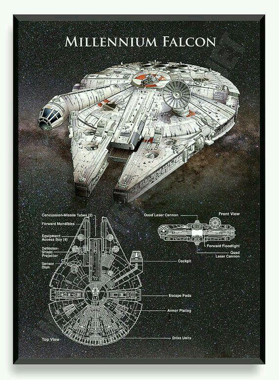 Graphic description of the Millennium Falcon.