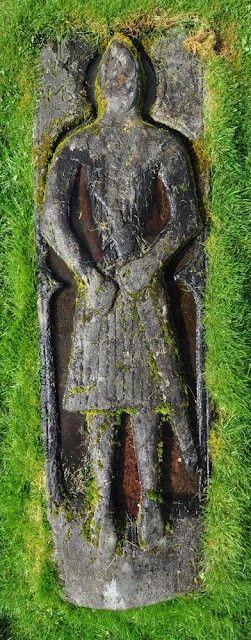 Knights gravestone, St Columba's Isle, Isle of Skye, Scotland