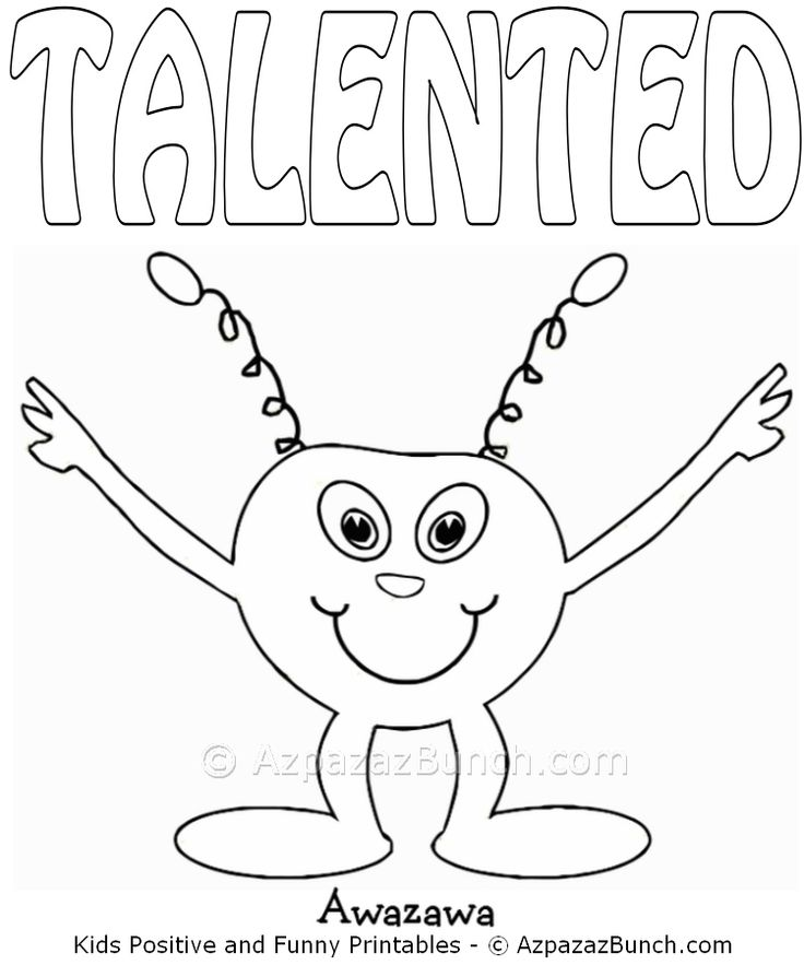 Awazawa Talented Printable Coloring Page Fun Activities
