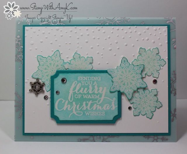 Stampin Up Flurry Of Wishes In Blues Amy Cards And