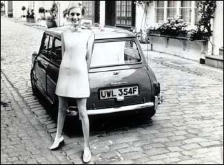The first Mini rolled off the production line in the late fifites but became as synonymous with the Swinging Sixties as the other, head-turning mini!