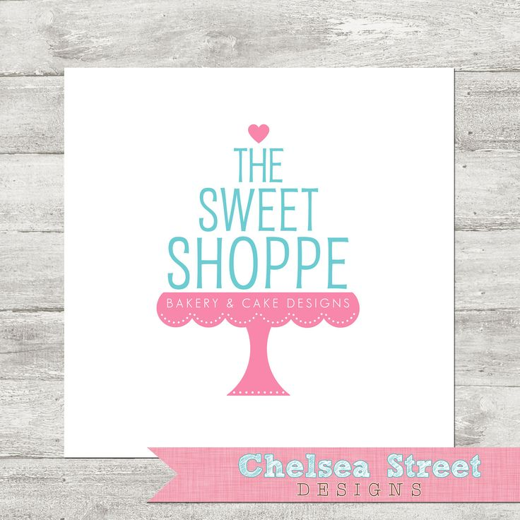 SALE - Premade logo and watermark design - cake stand. $25.00, via Etsy.