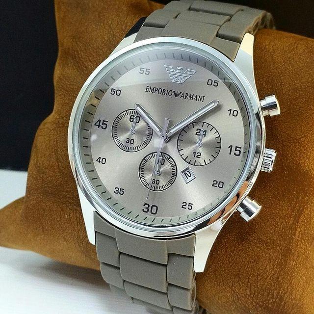 Silver Emporio Armani Mens Watch