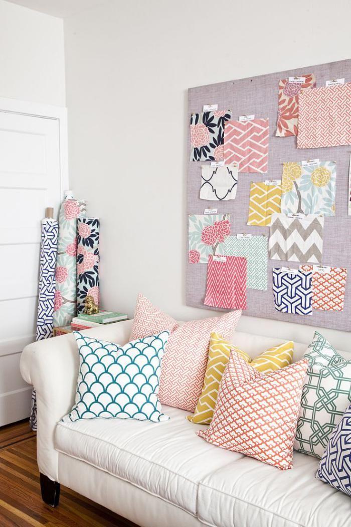 tissu scandinave, coussins en textiles graphiques style scandinave                                                                                                                                                      Plus