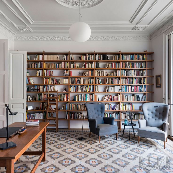 Barcelona Line A Wall With Shelves Add Two Armchairs The Perfect Home Library Cum Office