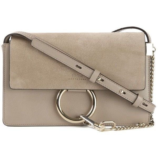 Chloe Faye Small Grey Suede \u0026amp; Leather Cross-Body Bag ($1,690 ...
