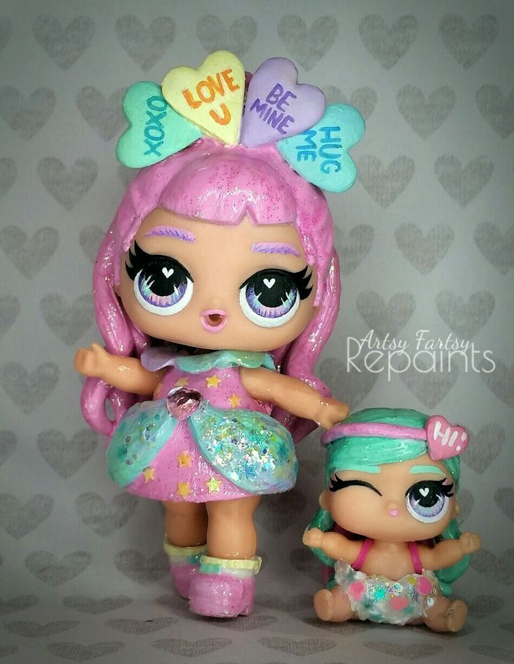 Custom LOL dolls Princess Valentine and her sidekick – Sylvanian Familie – #Cust… – Lol Dolls