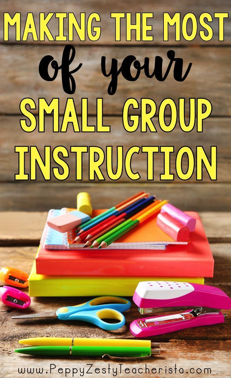 Small groups are so important!