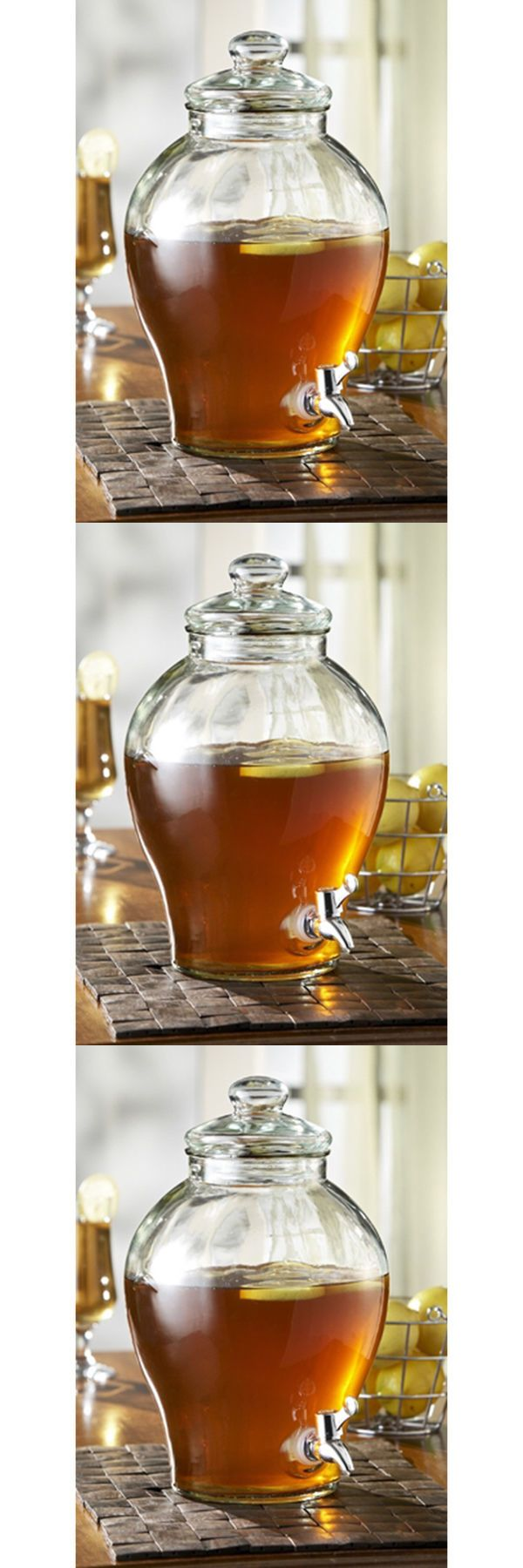 Pitchers 115729: 1.6 Gallon Glass Beverage Dispenser Water Jug Tea Pitcher Free Shipping -> BUY IT NOW ONLY: $41.99 on eBay!