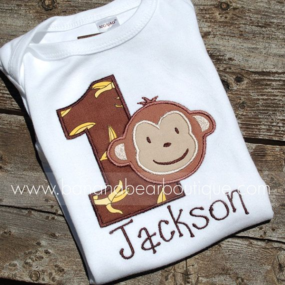 Goin' Bananas Mod Monkey Birthday Boy Shirt