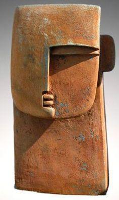Peter Hayes Grande tête en céramique