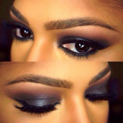 Dark Smokey Eyeshadow For Dark Skin Tone Amazingmakeups