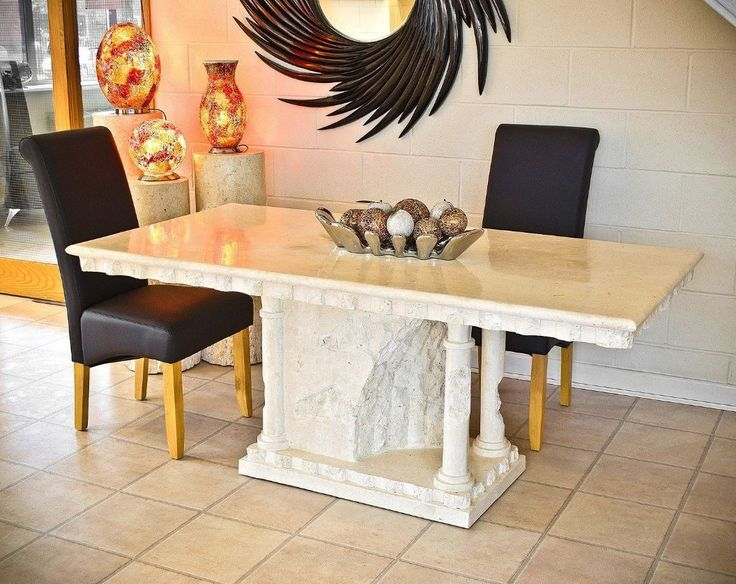 Beau Bellagio Mactan Stone Dining Table With Polished Top | EBay