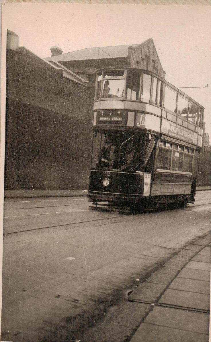Last Tran 1952 Woolwich Arsenal Wall in background