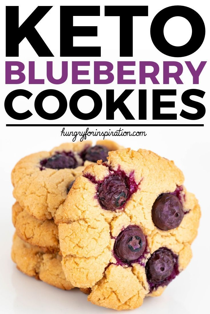Super Easy Keto Blueberry Cookies With Only 1 7g Net Carbs Per